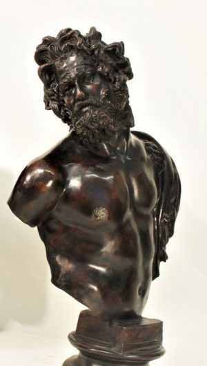 Lot. 21 bronze sculpture the old man