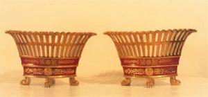 Lot. 13 pair of porcelain baskets