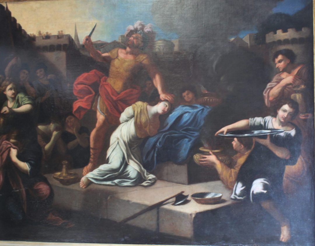 Lot. 25 Sacrilege of Iphigenia painting
