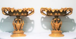 Lot. 7 Pair of marble vases