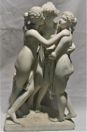 Lot. 49 Three graces in marble