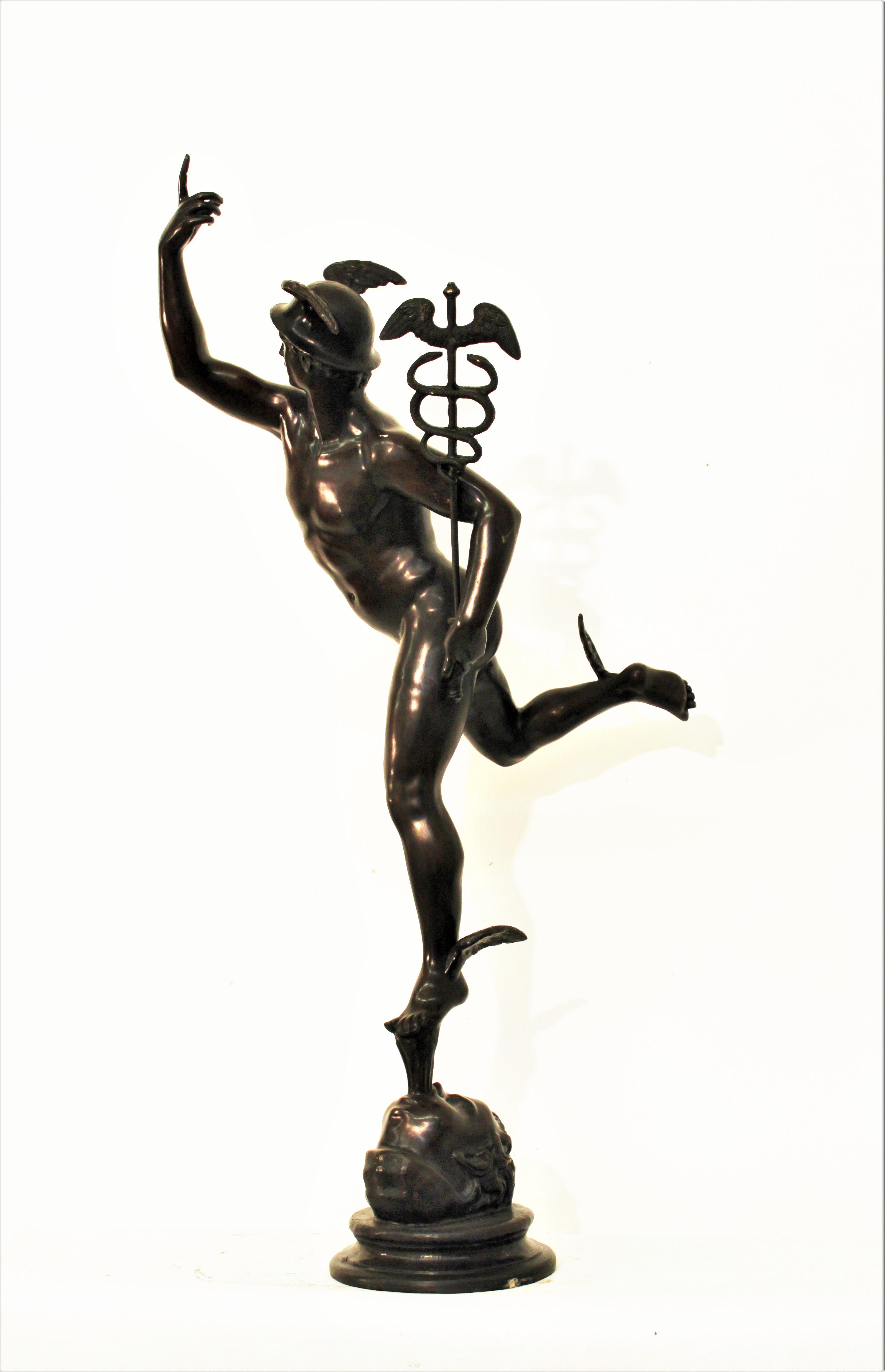 Lot. 59 grande mercurio in bronzo